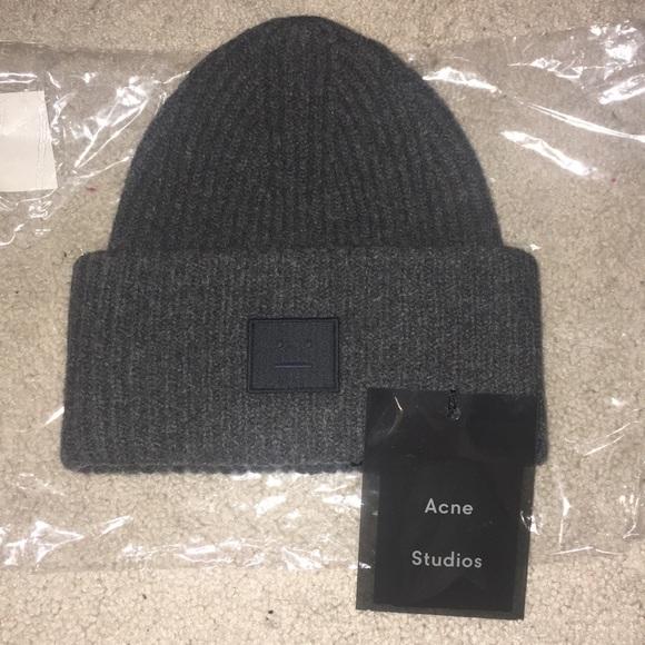 Acne Studios Charcoal wool hat 4033cd2bdbf